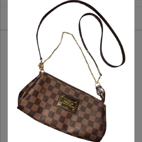 e8f552ee3485 Louis Vuitton Handbags - Louis Vuitton Eva Clutch W  Strap  Chain - Damier